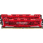 Ballistix Sport LT - DDR4 - 32 GB: 2 x 16 GB - DIMM 288-pin - 2400 MHz / PC4-19200 - CL16 - 1.2 V - unbuffered - non-ECC - red