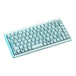 Compact-Keyboard G84-4100 - Keyboard - PS/2, USB - French - light gray
