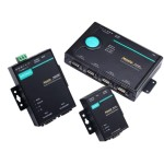 2 Port RS-232/422/485 Modbus TCP to Serial Communication Gateway, 100 to 240VAC wall adapter