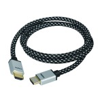 Woven Braided - HDMI cable - HDMI (M) to HDMI (M) - 16.4 ft - triple shielded - black and white - 4K support