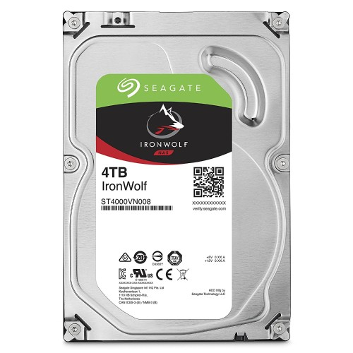 IronWolf ST4000VN008 Hard drive 4 TB internal 3.5 SATA 6Gb s 5900 rpm buffer 64 MB