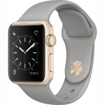 Watch Series 1, 38mm Gold Aluminum Case with Concrete Sport Band