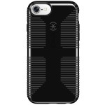 CandyShell Grip - Protective case back cover for cell phone - polycarbonate, acrylic - black, slate gray - for Apple iPhone 7