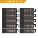 DataStick Pro USB 2.0 Flash Drives - Grey, 10-Pack