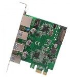 Syba Multimedia 3 PORT USB 3.1 GEN 1 AND GIGABIT ETHERNET PCI-E 2.0 X1 CARD SD-PEX50100