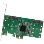4-PORT MSATA TO PCI-E X2 ADAPTER W/RAID