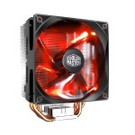 Cooler Master Hyper 212 LED - Processor cooler - ( LGA775 Socket, LGA1156 Socket, Socket AM2+, Socket AM3, LGA1155 Socket, Socket AM3+, LGA2011 Socket, Socket FM1, Socket FM2, LGA1150 Socket, Socket FM2+, LGA2011-3 Socket, LGA1151 Socket ) - aluminum and copper - 120 m RR-212L-16PR-R1