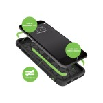 BodyGuardz Shock Case with Unequal Technology - Back cover for cell phone - thermoplastic polyurethane - black - for Apple iPhone 6, 6s