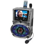 "DVD/CD+G/MP3+G Bluetooth Karaoke System with 7"" TFT Color Screen & LED Sync Lights"