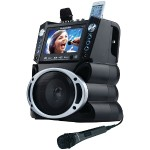 "DVD/CD+G/MP3+G Bluetooth Karaoke System with 7"" TFT Color Screen"