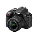 Nikon D3300 - Digital camera - SLR - 24.2 MP - 3 x optical zoom AF-S DX 18-55mm and 55-200mm VR II lenses - black 13473