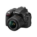 D3300 - Digital camera - SLR - 24.2 MP - 3 x optical zoom AF-S DX 18-55mm and 55-200mm VR II lenses - black