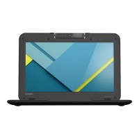 "Lenovo N22 Chromebook 80SF - Celeron N3060 / 1.6 GHz - Chrome OS - 4 GB RAM - 16 GB eMMC - 11.6"" TN 1366 x 768 (HD) - HD Graphics 400 - Wi-Fi, Bluetooth - black 80SF001FUS"