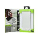 Recharge ULTRATHIN 5000 - Power bank 5000 mAh - 1 A (Micro-USB Type B (power only)) - white, silver