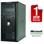OptiPlex 755 Intel Core 2 Duo 2.93GHz Mini Tower PC - 4GB RAM, 250GB HDD, DVD+/-RW, Gigabit Ethernet - Refurbished