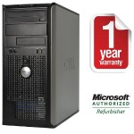Dell OptiPlex 380 Intel Core 2 Duo 2.93GHz Mini Tower PC - 4GB RAM, 250GB HDD, DVD+/-RW, Gigabit Ethernet - Refurbished PC1-0583