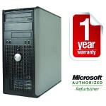 OptiPlex 760 Intel Core 2 Duo 2.93GHz Mini-Tower PC - 4GB RAM, 250GB HDD, DVD+/-RW, Gigabit Ethernet - Refurbished