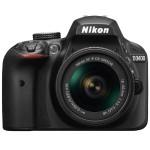 D3400 24.2-megapixel DX-format CMOS image sensor DSLR Camera with AF-P DX NIKKOR 18-55mm f/3.5-5.6G VR Lens - Black