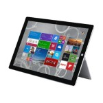 Microsoft SURFACE 3 TABLET INTEL:X7-Z8700/AQC-1.66GULV 4GB/ONBOARD 128GB/SSD MR 802.11AC+BT 2XWEBCAM INTEL-HD/IGP 10.8CTFHD/TOUCH W10H 1.4LBS SILVER 1YR 7G6-00014