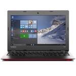 """Ideapad 100s (11"""") Intel Atom Z3735F Quad-Core 1.33GHz Laptop - 2GB RAM, 32GB eMMC, 11.6"""" HD LED, 802.11 b/g/n, Bluetooth, Webcam, Red - Refurbished"""