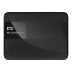 WD My Passport - Hard drive - encrypted - 2 TB - external (portable) - USB 3.0 - 256-bit AES - black