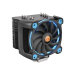 Riing Silent 12 Pro - Processor cooler - (for: LGA775, LGA1156, AM2, AM2+, LGA1366, AM3, LGA1155, AM3+, LGA2011, FM1, FM2, LGA1150, LGA2011-3, LGA1151, AM4) - aluminum and copper - 120 mm - blue