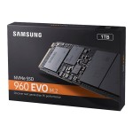 960 EVO MZ-V6E1T0BW - Solid state drive - encrypted - 1 TB - internal - M.2 2280 - PCI Express 3.0 x4 (NVMe) - 256-bit AES - TCG Opal Encryption