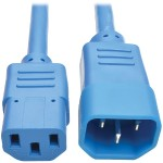 2ft Heavy Duty Power Extension Cord 15A 14 AWG C14 C13 Blue 2' - Power extension cable - IEC 60320 C14 to IEC 60320 C13 - 2 ft - blue