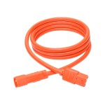 6ft Heavy Duty Power Extension Cord 15A 14 AWG C14 C13 Orange 6' - Power extension cable - IEC 60320 C14 to IEC 60320 C13 - 6 ft - orange