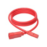 6ft Heavy Duty Power Extension Cord 15A 14 AWG C14 to C13 Red 6' - Power extension cable - IEC 60320 C14 to IEC 60320 C13 - 6 ft - red