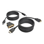 6ft HDMI DVI USB KVM Cable Kit USB A/B Keyboard Video Mouse 6' - Video / audio / data cable kit - HDMI / DVI / USB - 6 ft - black - molded