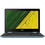 "Acer Spin 1 SP113-31-P0Y1 - Flip design - Pentium N4200 / 1.1 GHz - Win 10 Home 64-bit - 4 GB RAM - 128 GB SSD - 13.3"" IPS touchscreen 1920 x 1080 (Full HD) - HD Graphics 505 - Wi-Fi, Bluetooth - black, turqouise blue NX.GL7AA.001"