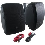 "Pyle 5.25"" Indoor/Outdoor 600-Watt Bluetooth Speaker System (Black) PDWR54BTB"