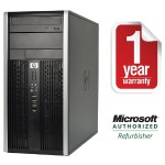 8200 Elite Intel Core i5-2400 Dual-Core 3.10GHz Microtower PC - 8GB RAM, 1TB HDD, DVD+/-RW, Gigabit Ethernet - Refurbished