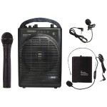 Pyle Portable Amp & Microphone System with Bluetooth PWMA1216BM