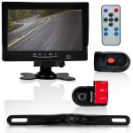 DVR Dash Cam Vehicle Driving Video Camera & Monitor System Kit, Waterproof Rearview Backup Parking Camera, (2) Interior DVR Cams, 7'' Display