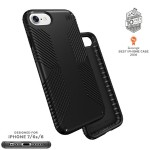 Presidio GRIP iPhone 7 - Protective case for cell phone - polycarbonate - black - for Apple iPhone 7