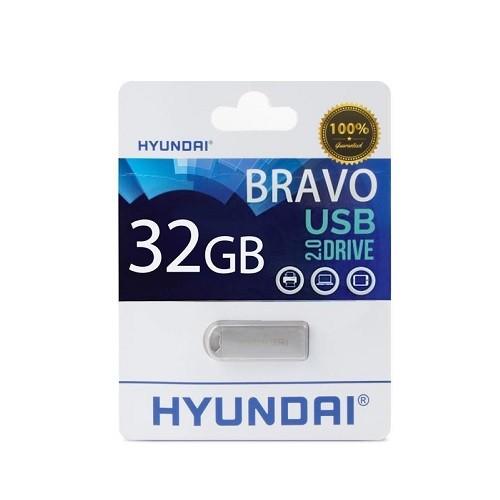 075db268e6e3de Hyundai IT 32GB Bravo Keychain USB 2.0 Flash Drive - Metal Silver  (MHYU2BK32G)