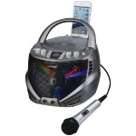 Portable CD+G Karaoke Player with Flashing LED Lights