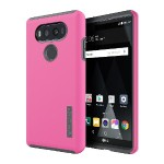 DualPro Hard Shell Case with Impact Absorbing Core for LG V20 - Pink/Charcoal