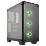 Crystal Series 460X RGB - Mid tower - ATX - no power supply (ATX) - black - USB/Audio