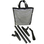 "Vacuum Accessory Kit with Two 18"" Wands, Three Carpet Tools, and One Mesh Carry Case"