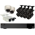 16-Channel 1080p 2TB Video Surveillance System with 8 Bullet Cameras, 2 Dome Cameras and 2 Auto-Focus Cameras