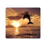 Recycled Mouse Pad Dolphin Jumping - Mouse pad - multicolor