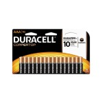 1.5 Volt DC CopperTop Alkaline Batteries with Duralock Power Preserve Technology, AAA, 16-Pack