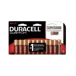 9 Volt Quantum Alkaline AA Batteries with Duralock Power Preserve Technology - 12/Pack