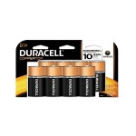 1.5 Volt DC CopperTop D Alkaline Batteries with Duralock Power Preserve Technology 8/Pack