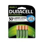 Ion Core Rechargeable NiMH AAA Batteries with Duralock Power Preserve Technology - 4/Pack