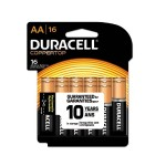 CopperTop Alkaline Batteries with Duralock Power Preserve Technology, AA, 16/Pack
