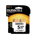 9 Volt CopperTop Alkaline Batteries with Duralock Power Preserve Technology - 4/Pack